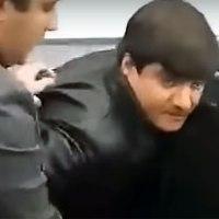 Появилось видео задержания «вора в законе» Айко Астраханского с «Дерринджером»